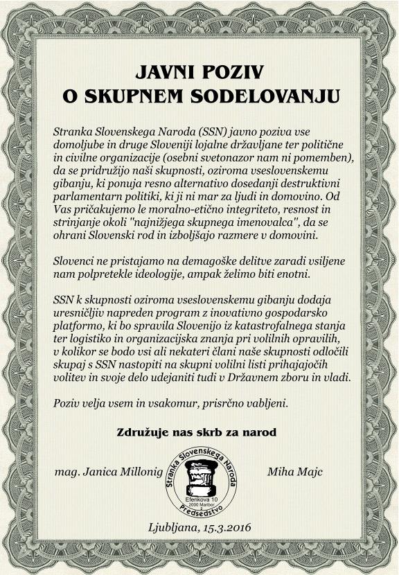 Podoba: Javni poziv o skupnem sodelovanju